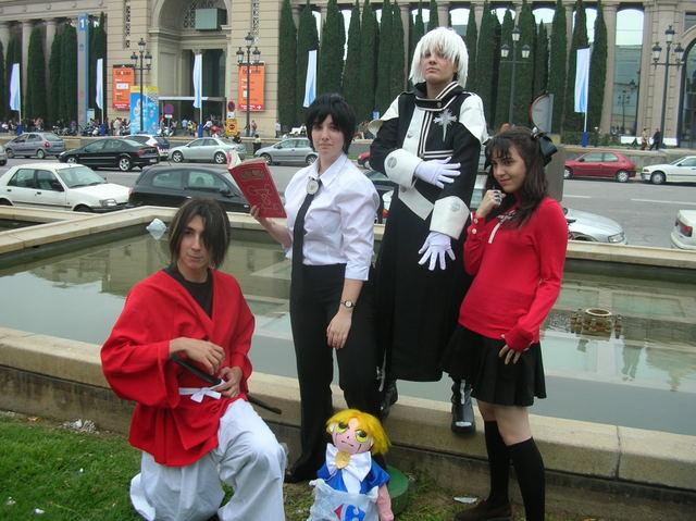 Grupo cosplay